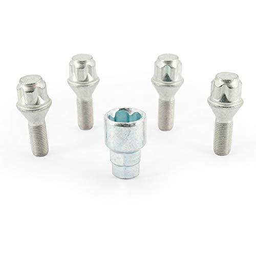 H&R 12252601KEY4 Set M12x1.25x26mm Kegelbund-4 Felgenschloss-Schrauben inkl. Adapter
