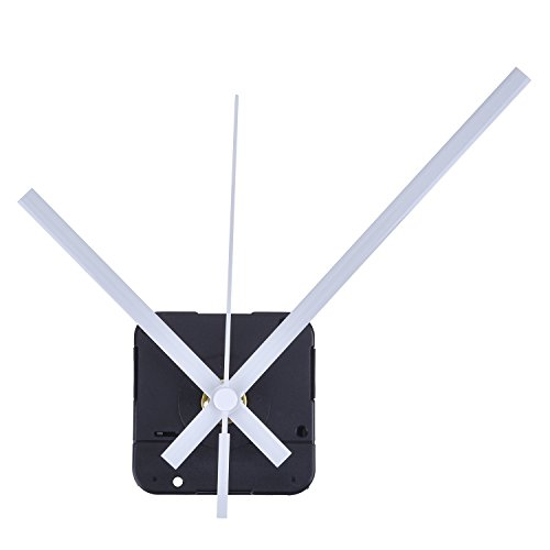 Mudder Lange Spindel Quarz Uhrwerk, Maximale Zifferblatte von 1/2Zolldick,Gesamtschaftlänge von 9/10 Zoll (Weiß)
