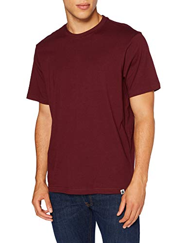Element Basic - Camiseta de Manga Corta para Hombre Camiseta de Manga Corta, Hombre, Vintage Red, S
