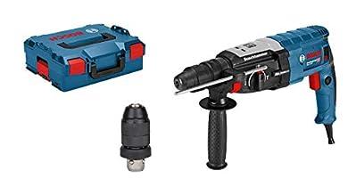 Foto di Bosch Professional 0611267601 Perforatore con Attacco SDS Plus GBH 2-28 F, Mandrino Autoserrante 13 mm, Portautensili, Impugnatura Aggiuntiva, Panno Macchina, in L-Boxx, 880 W, 230 V