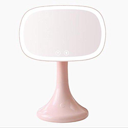 Carl Artbay Miroir de bureau LED de maquillage miroir de salle de bain miroir miroir de lampe avec loupe USB