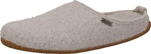 Living Kitzbühel Unisex-Erwachsene Pantoffel unifarben mit Fußbett Hausschuh, hellgrau, 39 EU