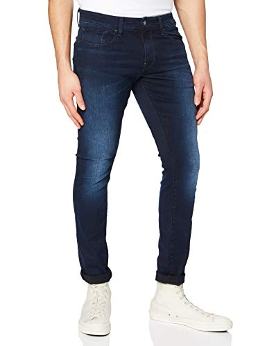 G-STAR RAW Herren Skinny Jeans Revend, Dark Aged 6590-89, 31W / 34L
