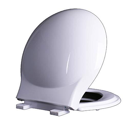 sedile wc Bianco Rotondo Forma di O in Materiale PP, Chiusura Morbida, sgancio rapido, Facile da Pulire, può Essere utilizzato nel Bagno del Ristorante dell'hotel familiare