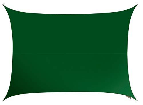 Voile d'Ombrage Vert Rectangle 4x3m - Imperméable - 160g/m2 - Kookaburra