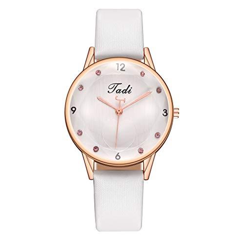 JZDH Relojes para Mujer Cinturón de Las señoras Fashion Diamond Watch Small Dial Casual Quartz Diseño conciso Pulsera para Relojes para Mujer Relojes Decorativos Casuales para Niñas Damas (Color : D)