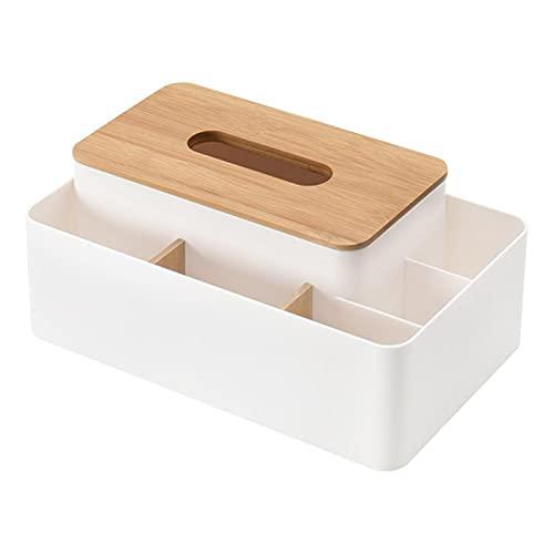 Sostenedor del tejido Caja de tejido Titular de control remoto Maquillaje Caja de almacenamiento cosmético Servilleador Papel Contenedor Organizador de escritorio Organizador de la decoración de la ca