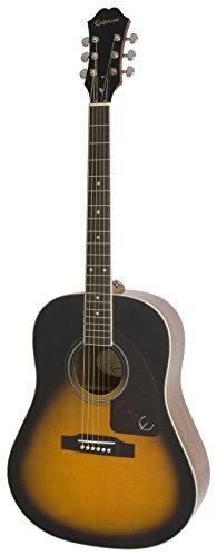 Epiphone AJ-220S - Guitarras acústicas con cuerdas metálicas, color vintage sunburst