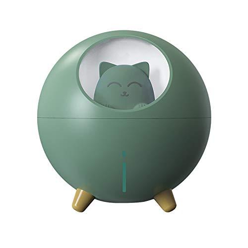 YueLove Planet Cat Luftbefeuchter, USB Bunter Nachtlicht-Auto Desktop Zerstäubungswasserapplikator, Geeignet Für Wohn, Mini Luftbefeuchter Home Office Silent Luftbefeuchte 10 * 110 * 113,6 mm