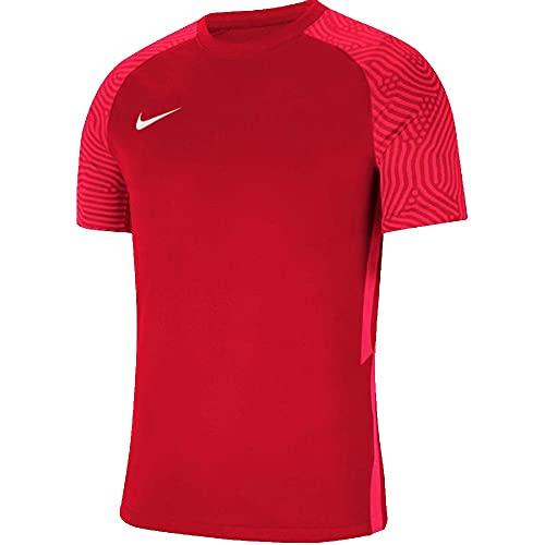 NIKE Camiseta para Mujer Strike II Jersey S/S, Mujer, CW3553-657, University Red/Bright Crimson/White, Medium