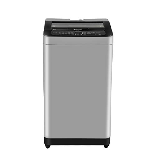 Panasonic 7 Kg 5 Star Built-In Heater Fully-Automatic Top Loading Washing Machine (NA-F70BH9MRB, Middle Free Silver, Active Foam...