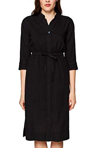 edc by ESPRIT Damen 039CC1E007 Kleid, Schwarz (Black 001), (Herstellergröße: 38)