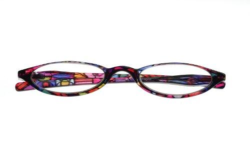 【シニアグラス】ハーフムーン EYE MAGINE/アイマジン おしゃれ老眼鏡 (+1.0, ステンドグラス)