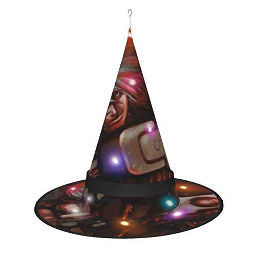 AOOEDM Sombrero de Bruja de Halloween Fiesta Cosplay Decoracin Devil May Cry Sombrero de Bruja para Mujer Disfraz Accory