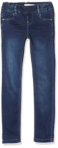NAME IT NOS Mädchen Nkfpolly Dnmtora 3238 Legging Noos Jeans, Blau (Dark Blue Denim Dark Blue Denim), (Herstellergröße:164)