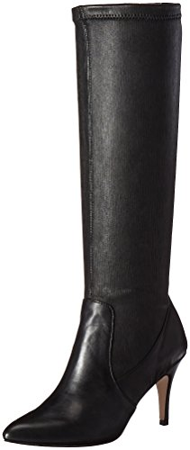 Corso Como Women's Redding Riding Boot, Black Stretch Leather, 8.5 M US