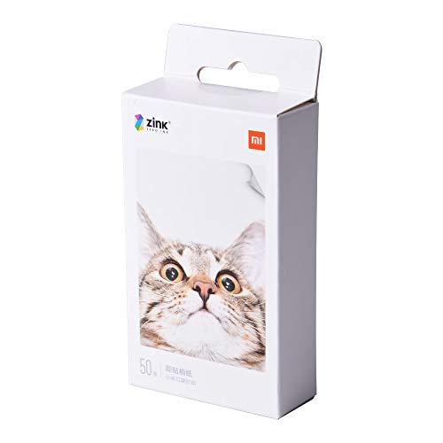 Premium Zink Papel Fotografico,para Xiaomi Mijia Impresora Móvil,Papel Fotográfico Adhesivo,Impresión Sin Tinta,AR Fotos,5 x 7.6 cm,313 x 400 ppp,para Viaje,Cenas,Fiestas,Regalos(Paquete de 50 Hojas)