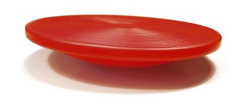 Sissel Unisex Erwachsene Board, Wackelbrett, 40cm, Sissel Balance Board propriozeptiv Koordination Wackelbrett 40cm rund, rot, Einheitsgröße EU