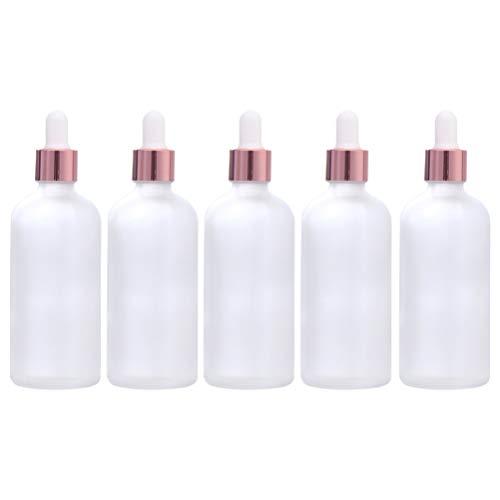 Artibetter Glazen Druppelflesjes Flesjes Etherische Olie Hervulbare Lege Aromatherapie Vloeibare Containers Dispenser Cosmetische Monsterfles Voor Reislaboratorium Gebruik 100Ml 5St