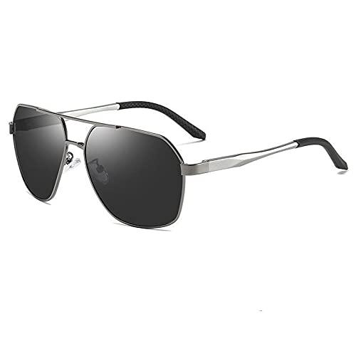 AMFG Occhiali da sole visione notturna polarizzati occhiali da sole da uomo grandi telaio occhiali da sole driver Guida di guida Goggles (Color : D)