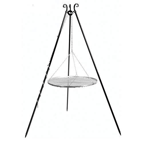 CookKing Dreibeingrill, Höhe 180cm, Rost Edelstahl 80cm, Schwenkgrill