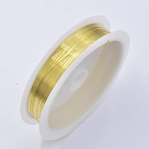 Color 0.4mm negro/púrpura/azul/rojo aleación de cobre, utilizado para la fabricación de joyas, pulsera, collar, alambre con cuentas, accesorios de bricolaje