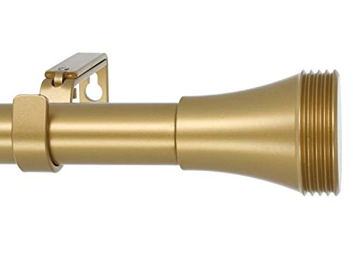 MERIVILLE 1-Inch Diameter Ardmore Single Window Treatment Curtain Rod, 28-Inch to 48-Inch, Royal Gold