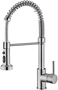 Pirooso Single Handle Kitchen Faucet with Pull Down Sprayer