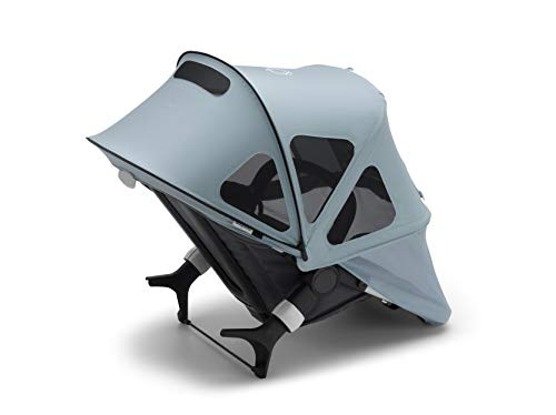 Bugaboo Fox2/Lynx Breezy Sun Canopy - Extendable Sun Canopy with UPF Sun Protection and Mesh Ventilation Panels, Also Compatible with Fox and Cameleon3 (Vapor Blue)