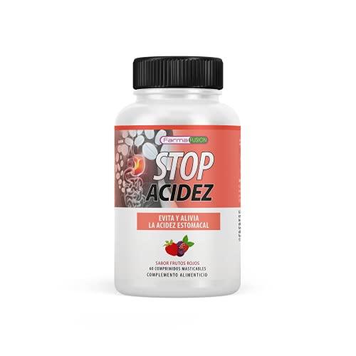 STOP ACIDEZ | Elimina y previene la Acidez y Reflujo Estomacal | Protege el Estómago frente el Ardor | Elimina el reflujo y el malestar de estómago | Mejora la salud digestiva | 60U sabor frutos rojos