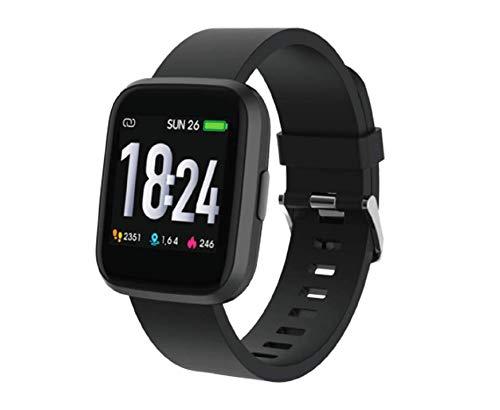 TESMED Fit 2.0 Smartwatch e Tracker Sportivo, Full Touch Screen, Battito Cardiaco, Fasi del Sonno, IP68, Cinturino di Ricambio, Unisex, Durata Batteria 6 Giorni