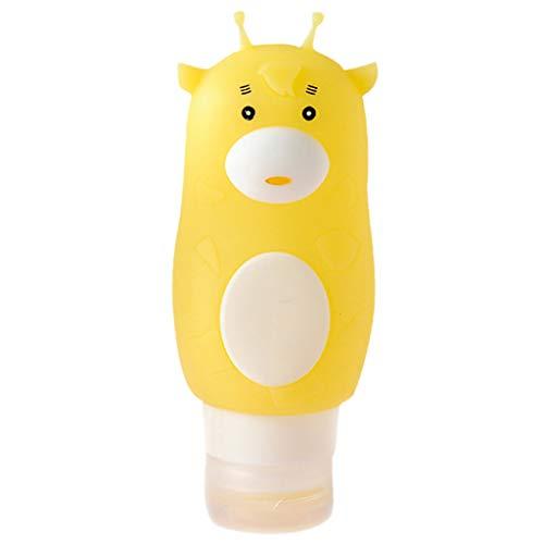 FiedFikt Reisflessen, Lekvrij Kunststof navulbare Reisflessen, Leuke Cartoon Knijpbare Shampoo Reisbuis Cosmetische Toiletruimte Containers voor Shampoo Lotion Soap