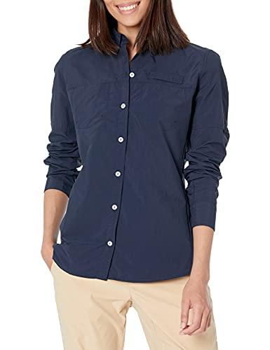Amazon Essentials Camisa de Manga Larga para Exteriores con Bolsillos en el Pecho, Azul Marino, XL