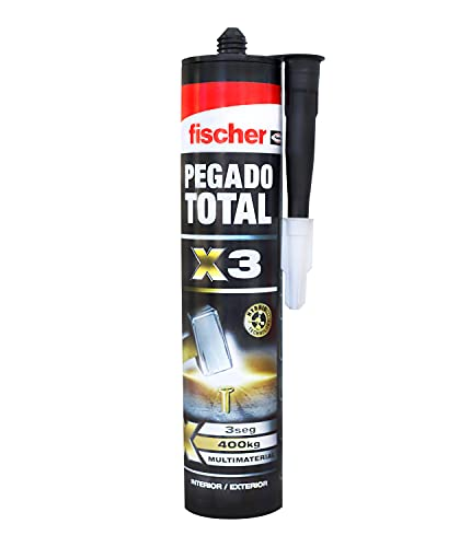 Fischer 560778 Adhesivos de Montaje extrafuerte y Agarre inmediato, Blanco, 290 ml