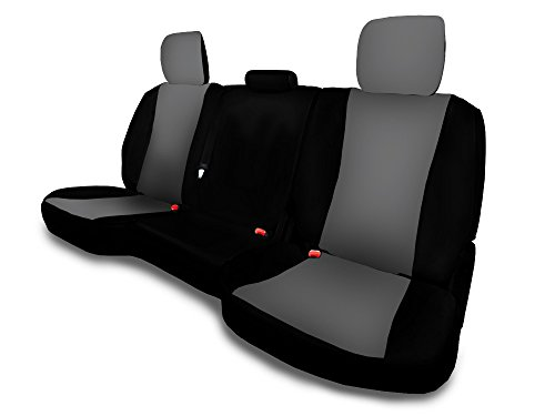 CarsCover Custom Fit 2009-2016 Dodge Ram 1500 2500 3500 Pickup Truck Neoprene Car Front Seat Covers Gray & Black Sides Driver & Passenger Cover