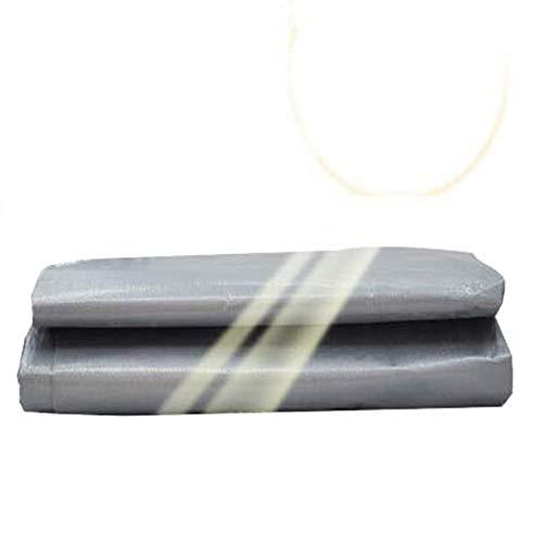 Lialun Lona Impermeable, Impermeable Resistente al Aire Libre Protector Solar balcón paño a Prueba de Lluvia Hebilla de Metal Resistente al Tirar Polietileno,16 tamaños,Personalizado Lona Impermeable
