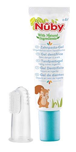 Nûby Citroganix - Gel Nettoyant Gencives et Dents Avec Doigt Massant – 20 g - 4 Mois +