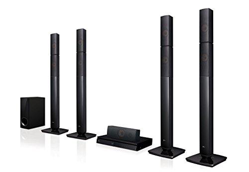 LG LHB655N Torre 1000W Negro - Microcadena (Torre, Negro, 1000 W, Passive subwoofer, DTS,DTS-HD Master Audio,Dolby Digital,Dolby Digital Plus,Dolby TrueHD, 148MHz/12-bits)