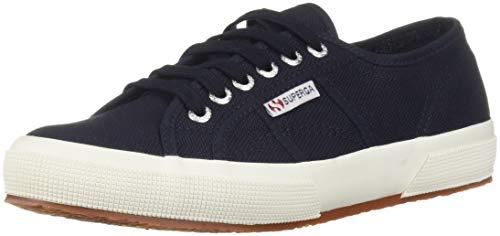 Superga Women's 2750 Cotu Classic Sneaker, White Navy, 10