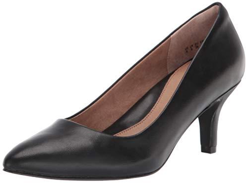 Amazon Essentials Women's Round Toe Medium Heel Pump, Black, 8 B US