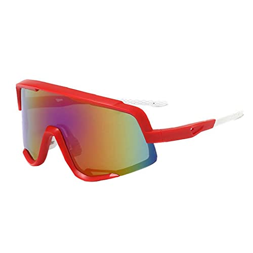 Gafas De Deportivas, Uv400 Protective Retro Vista MTB Bike Bike Glasses Anti- Niebla Y Conducción Viento Gafas Gafas Gafas para Hombres Ciclismo Pesca Roja