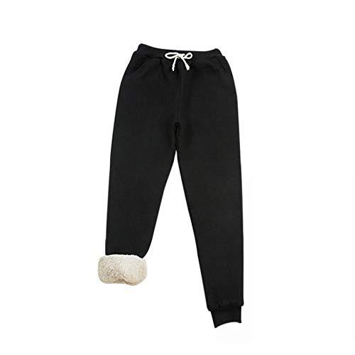 Dihope Femme Pantalon de Jogging Polaire Chaud Épais Pantalons de Survêtement Long Loose Cordon de Serrage Sweatpants avec Poches Casual pour Fitness Training