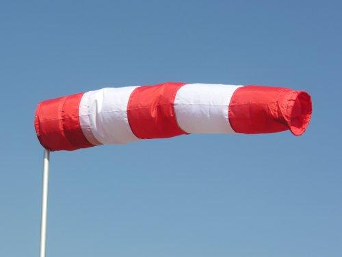 Schmidtler Windsack rot-weiß 30cm Durchmesser, 1,80m lang