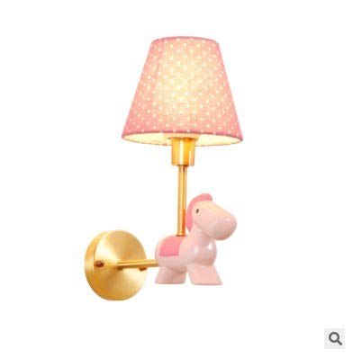 All-copper pink children's bedroom wall lamp cartoon girl bedroom headlamp princess room lamp 16 x 33CM (mm)