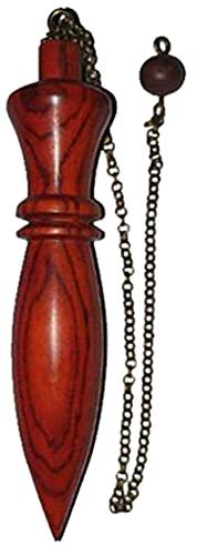 Péndulo de Madera para Radiestesia, Adivinación y Sanación Karmak, P17B Madera Exótic