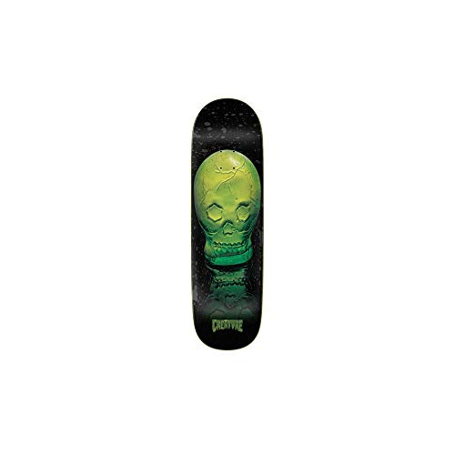 Creature Skateboard Deck Green Skull Everslick 8.59