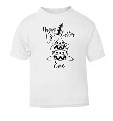 Flox T-Shirt créatif pour bébé Happy Easter personnalisé - Blanc - 6 Mois