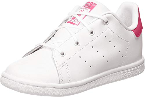 adidas Stan Smith J, Zapatillas Unisex Adulto, Blanco (Footwear White Footwear White Bold Pink 0), 37 1 3 EU