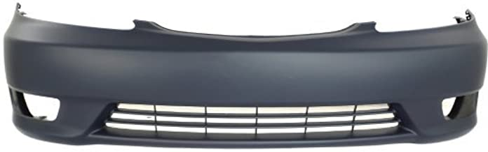 Front Bumper Cover Compatible with 2005-2006 Toyota Camry Primed SE Model USA Built with Fog Light Holes