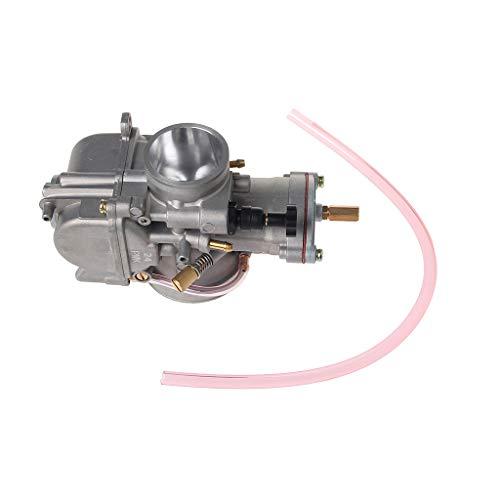 Runrain Carburador universal de 24 mm para Keihin Carb PWK Mikuni con chorro de potencia